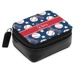 Baseball Small Leatherette Travel Pill Case (Personalized)