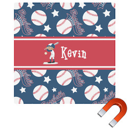Baseball Square Car Magnet (Personalized)