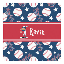 Baseball Square Decal - Custom Size (Personalized)