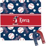 Baseball Square Fridge Magnet (Personalized)
