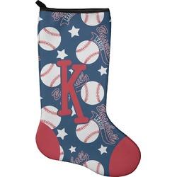 Baseball Christmas Stocking - Neoprene (Personalized)