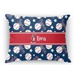 Baseball Rectangular Throw Pillow Case (Personalized)