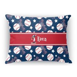 "Baseball Rectangular Throw Pillow Case - 12""x18"" (Personalized)"