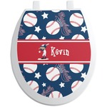 Baseball Toilet Seat Decal (Personalized)