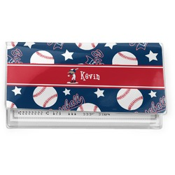 Baseball Vinyl Check Book Cover (Personalized)