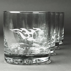 Baseball Whiskey Glasses (Set of 4) (Personalized)