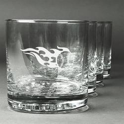 Baseball Whiskey Glasses (Set of 4) (Personalized)