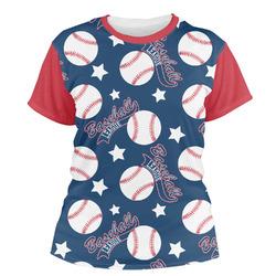 Baseball Women's Crew T-Shirt (Personalized)
