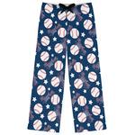 Baseball Womens Pajama Pants (Personalized)