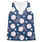 Baseball Womens Racerback Tank Top (Personalized)