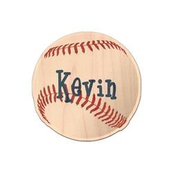 Baseball Genuine Wood Sticker (Personalized)