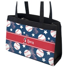 Baseball Zippered Everyday Tote w/ Name or Text