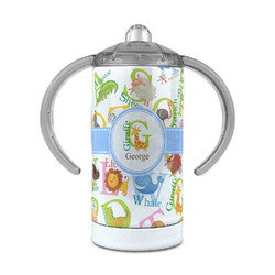 Animal Alphabet 12 oz Stainless Steel Sippy Cup (Personalized)