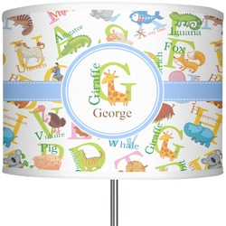 "Animal Alphabet 13"" Drum Lamp Shade (Personalized)"