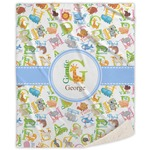 Animal Alphabet Sherpa Throw Blanket (Personalized)