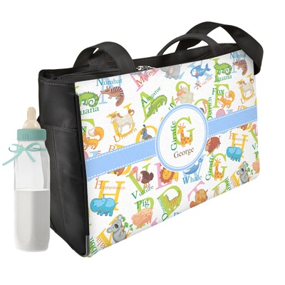Animal Alphabet Diaper Bag w/ Name or Text