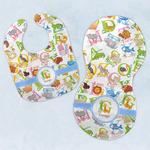 Animal Alphabet Baby Bib & Burp Set w/ Name or Text
