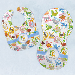 Animal Alphabet Baby Bib & Burp Set w/ Name or Text