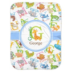 Animal Alphabet Baby Swaddling Blanket (Personalized)