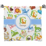Animal Alphabet Full Print Bath Towel (Personalized)