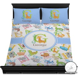 Animal Alphabet Duvet Cover Set (Personalized)