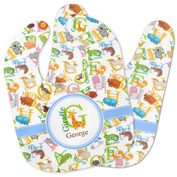 Animal Alphabet Baby Bib w/ Name or Text