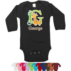 Animal Alphabet Bodysuit - Long Sleeves - 0-3 months (Personalized)