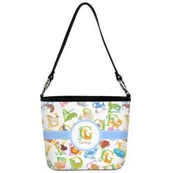 Animal Alphabet Bucket Bag w/ Genuine Leather Trim (Personalized)
