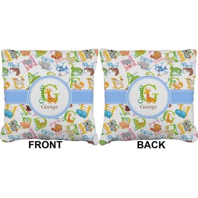 Animal Alphabet Burlap Pillow 16