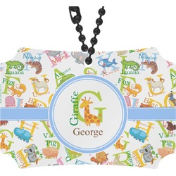 Animal Alphabet Rear View Mirror Ornament (Personalized)