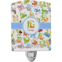 Animal Alphabet Ceramic Night Light (Personalized)
