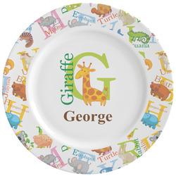 Animal Alphabet Ceramic Dinner Plates (Set of 4) (Personalized)