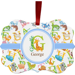 Animal Alphabet Ornament (Personalized)