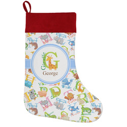 Animal Alphabet Holiday Stocking w/ Name or Text