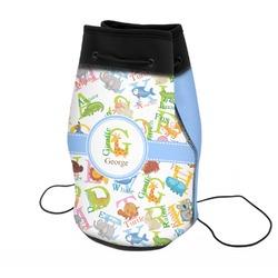 Animal Alphabet Neoprene Drawstring Backpack (Personalized)