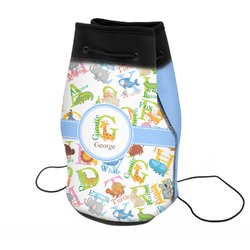Animal Alphabet Neoprene Drawstring Backpack (Personalized)