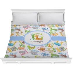 Animal Alphabet Comforter - King (Personalized)