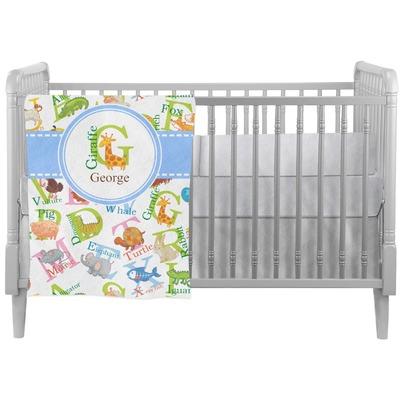 Animal Alphabet Crib Comforter / Quilt (Personalized)