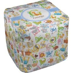 "Animal Alphabet Cube Pouf Ottoman - 18"" (Personalized)"