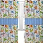 Animal Alphabet Curtains (2 Panels Per Set) (Personalized)