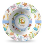 Animal Alphabet Plastic Bowl - Microwave Safe - Composite Polymer (Personalized)