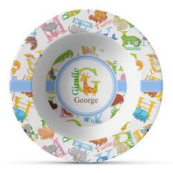 Animal Alphabet Plastic Bowl - Microwave Safe - Composite Polymer (Personalized)