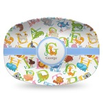 Animal Alphabet Plastic Platter - Microwave & Oven Safe Composite Polymer (Personalized)