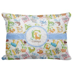 "Animal Alphabet Decorative Baby Pillowcase - 16""x12"" (Personalized)"