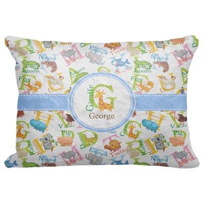 "Animal Alphabet Decorative Baby Pillowcase - 16""x12"" (Personalized)"
