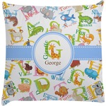 Animal Alphabet Decorative Pillow Case (Personalized)
