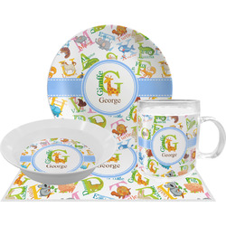 Animal Alphabet Dinner Set - 4 Pc (Personalized)