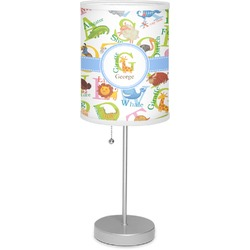 "Animal Alphabet 7"" Drum Lamp with Shade (Personalized)"