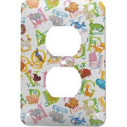 Animal Alphabet Electric Outlet Plate (Personalized)