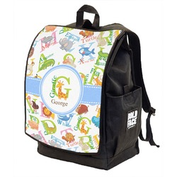 Animal Alphabet Backpack w/ Front Flap  (Personalized)